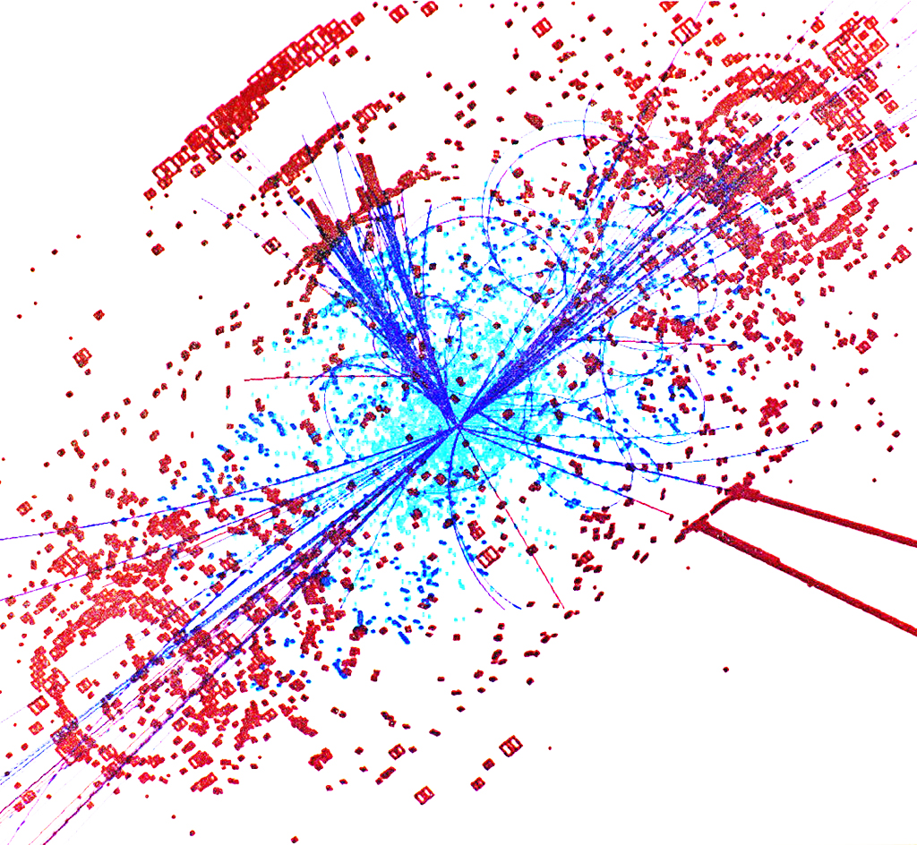 Simulation of a Higgs boson in the Large Hadron Collider at Cern